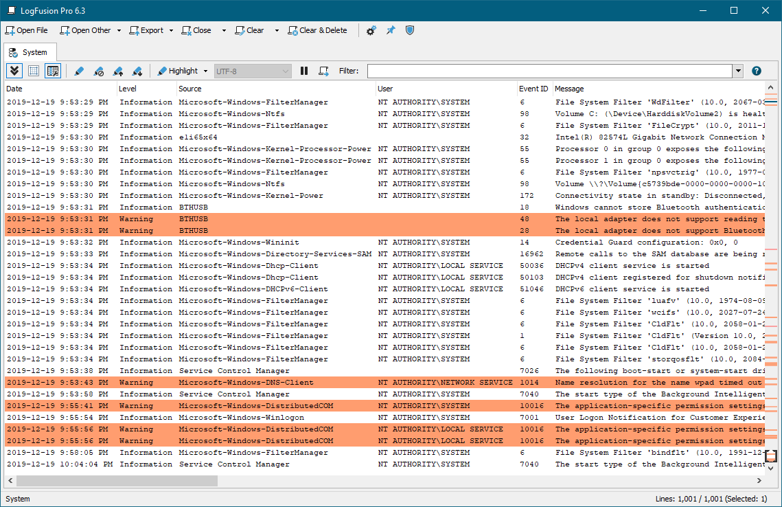 LogFusion Log Highlighting